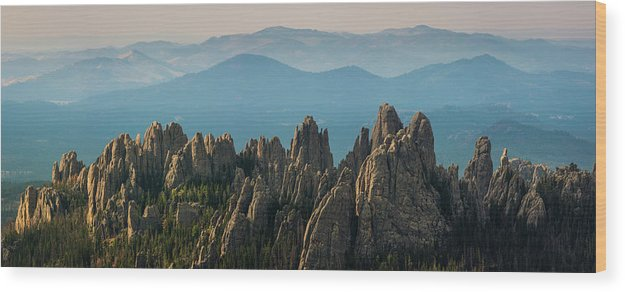 Scenics Wood Print featuring the photograph Cathedral Spires by Daniel J Barr