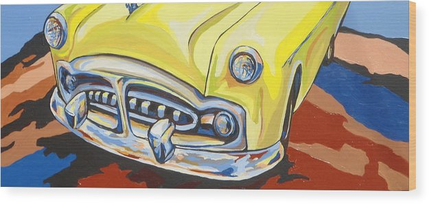 Car Wood Print featuring the painting Road Trip by Sandy Tracey