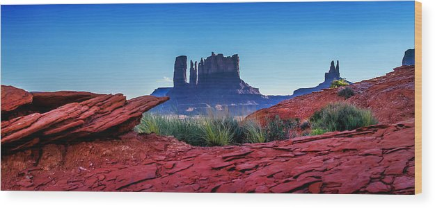Monument Valley Wood Print featuring the photograph Ancient Monoliths by Az Jackson