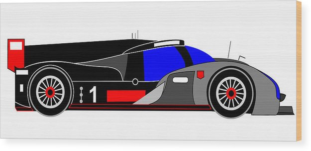 Audi Wood Print featuring the digital art Le Mans 2011 Audi R18 Number 1 by Asbjorn Lonvig