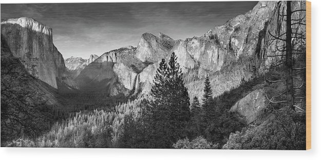 Scenics Wood Print featuring the photograph Rocky Mountains Overlooking Rural by Chris Clor