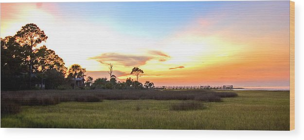 Sunset Wood Print featuring the photograph Sunset Over St. Joe Bay by Norman Johnson