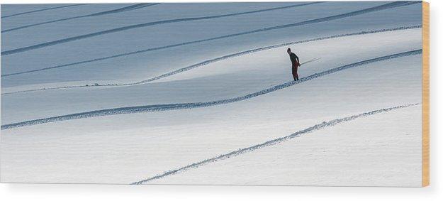 Slovakia Wood Print featuring the photograph Ski Runner . . by Matej Rumansky