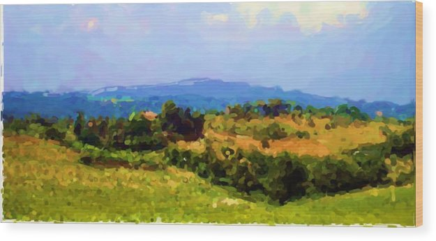 Tuscan Hills Wood Print featuring the photograph Hills Tuscany by Asbjorn Lonvig