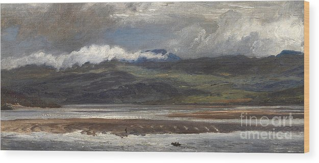 Seascape Wood Print featuring the painting After Rain by Henry Moore