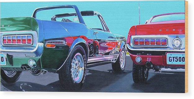 Car Wood Print featuring the painting Muscle Control by Lynn Masters