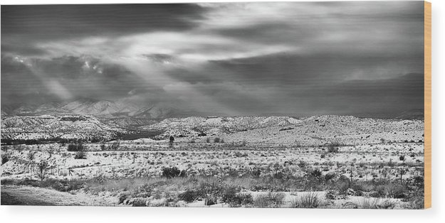 Landscape Wood Print featuring the photograph Snow Covers Northern New Mexico by Candy Brenton
