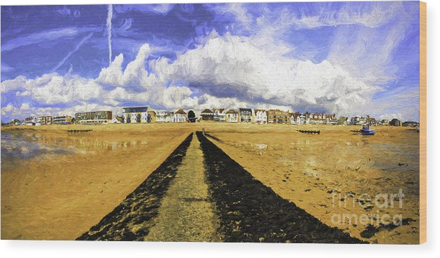 Southend On Sea Wood Print featuring the photograph Seafront at Southend on Sea by Sheila Smart Fine Art Photography