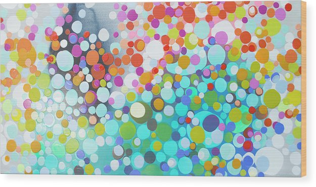 Abstract Wood Print featuring the painting Sweet Thing by Claire Desjardins