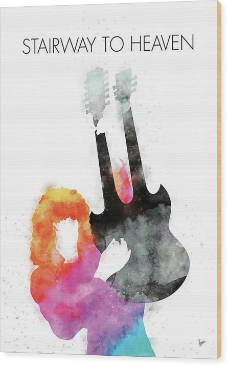 No011 MY Led zeppelin Watercolor Music poster by Chungkong Art