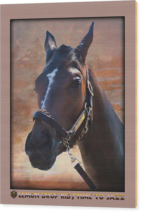 2 Year Old Race Horse Wood Print featuring the painting Hip 312 by John Breen