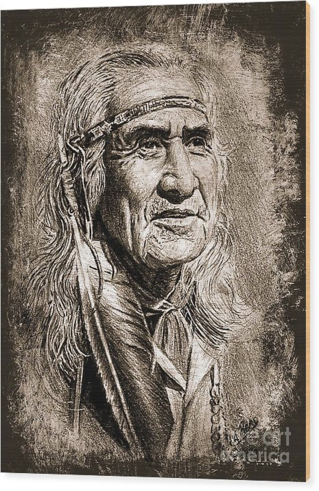 Chief Dan George sepia by Andrew Read