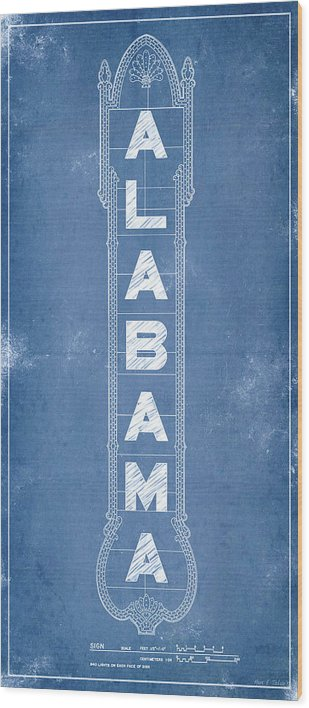 Alabama Theatre Marquee Blueprint by Mark Tisdale