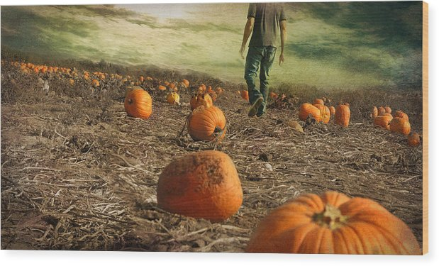 Fall Wood Print featuring the photograph Coming Soon by Inesa Kayuta
