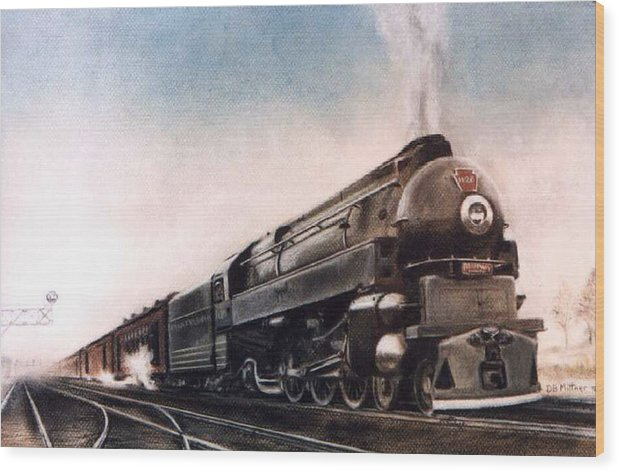 Trains Wood Print featuring the painting Broadway Limited by David Mittner