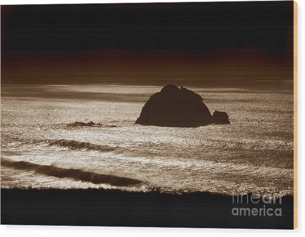 Big Sur Wood Print featuring the photograph Drama On Big Sur by Michael Ziegler