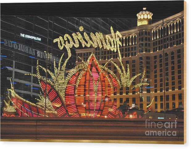 City Wood Print featuring the photograph Reflection by Guillermo E Renteria