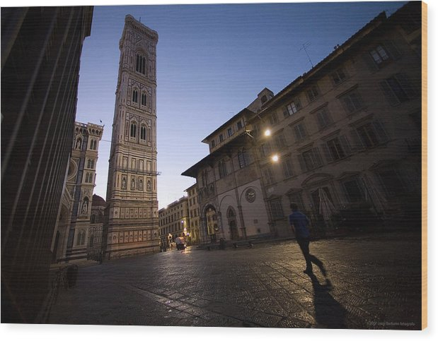 Italy Wood Print featuring the photograph Sunrise In Florence 3 by Luigi Barbano BARBANO LLC