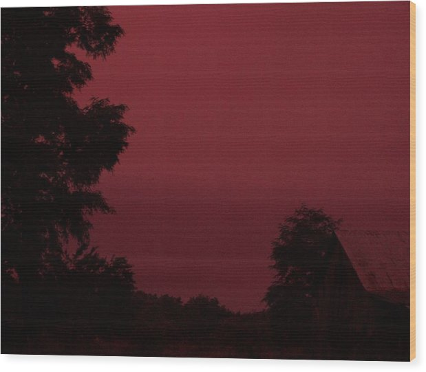 Landscape Wood Print featuring the print Untitled by Beverly Baxter