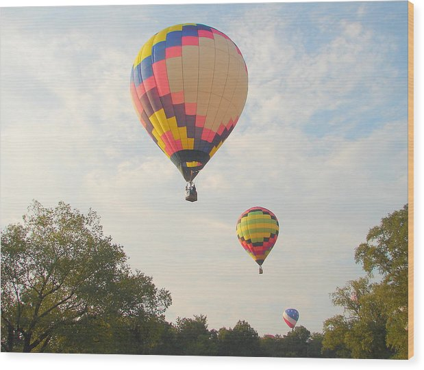 Wood Print featuring the photograph Balloon Race by Luciana Seymour