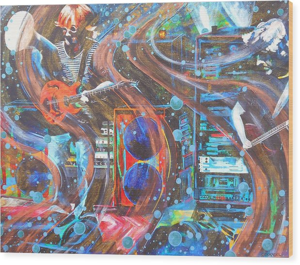 Phish Wood Print featuring the painting I Can Make You Slip by Kevin J Cooper Artwork