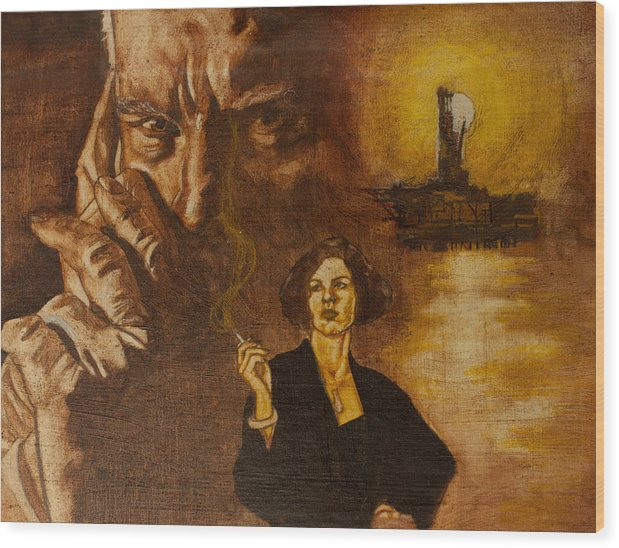 Oil Paint Wood Print featuring the painting An Inconvenient Intrigue by Michael Facey