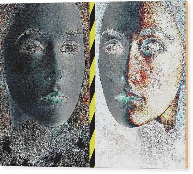 Art Wood Print featuring the digital art Edge Tension by David Deak