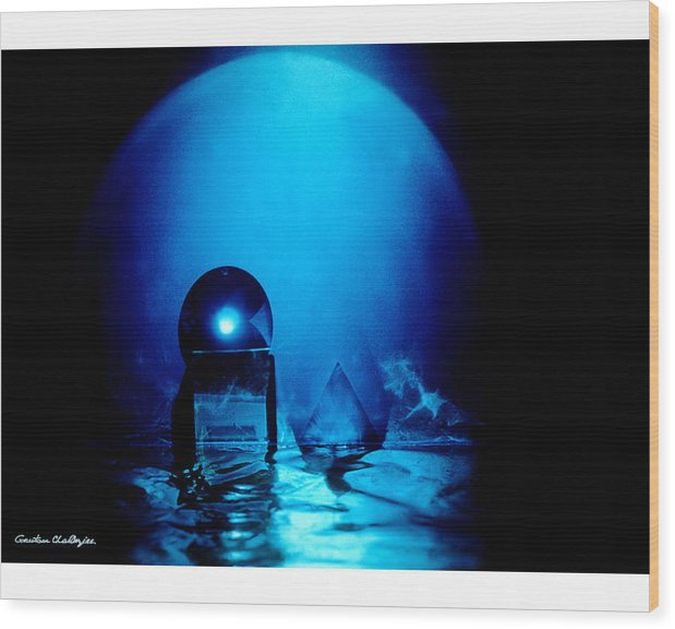 Blue Wood Print featuring the photograph The Space Life by Gautam Chatterjee
