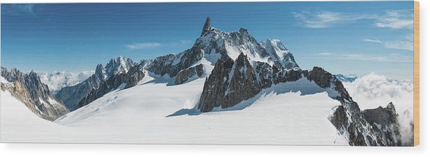 Scenics Wood Print featuring the photograph Alps White Wilderness Dramatic by Fotovoyager