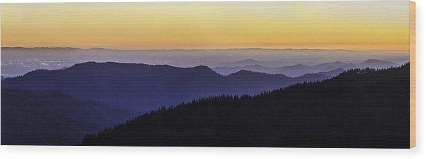 Central Valley Wood Print featuring the photograph San Joaquin Sunset by Matt Hammerstein