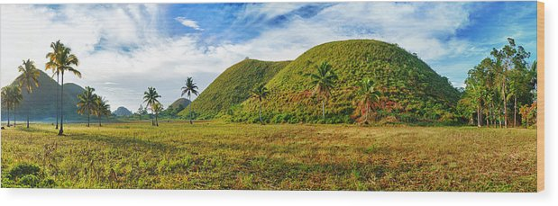 Hills Wood Print featuring the photograph Chocolate Hills by MotHaiBaPhoto Prints