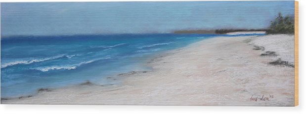 Landscape Wood Print featuring the pastel Afternoon On Honeymoon Island by Greg Neal