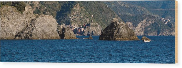Boat Wood Print featuring the photograph Cinque Terre Coast by Carl Jackson