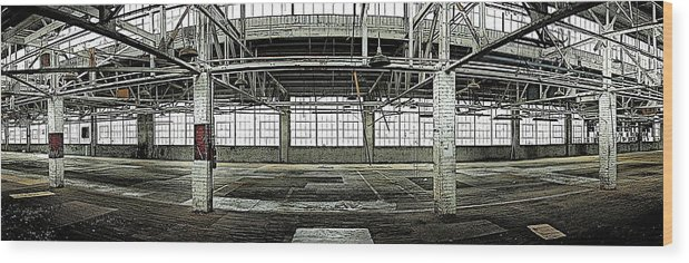 Warehouse Wood Print featuring the photograph The Factory by Alan Skonieczny