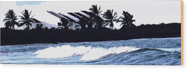 Beach Wood Print featuring the photograph Beach Silhouette by Ian MacDonald