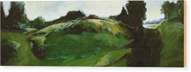 Landscape Wood Print featuring the painting Klimt by Dale Witherow