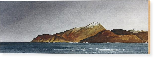 Seascape Wood Print featuring the painting Looking Towards Arran From Skipness by Paul Dene Marlor
