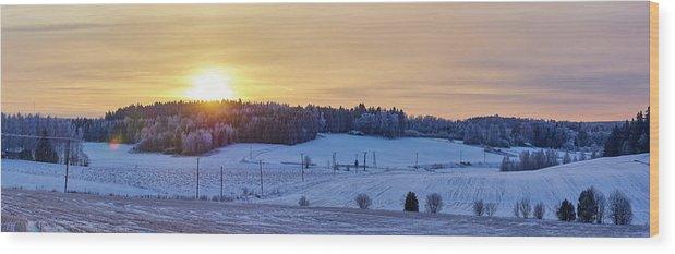 Finland Wood Print featuring the photograph Mihari Sunset by Jouko Lehto