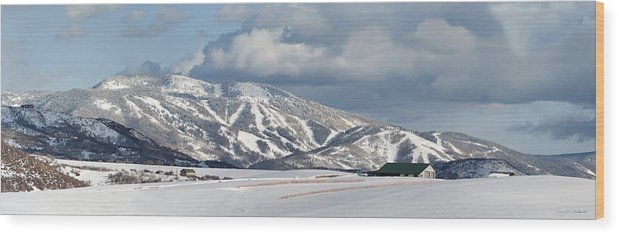 Storm Mountain Or Mount Werner Wood Print featuring the photograph Storm Mountain by Daniel Hebard