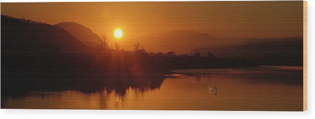 Fishing Wood Print featuring the photograph The Early Bird by Peter Olsen
