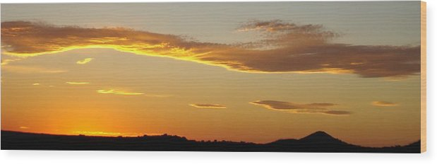 Sunset Wood Print featuring the photograph Yellow Sky Three by Ana Villaronga