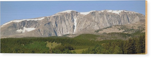 Mountains Wood Print featuring the photograph Big Horn Mountains by William Hallett