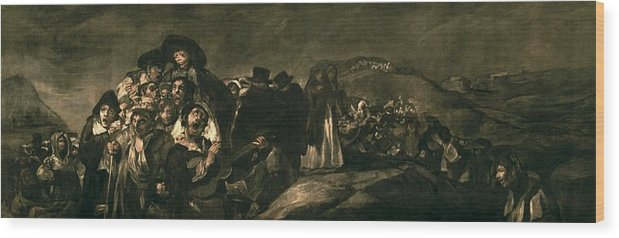 Horizontal Wood Print featuring the photograph Goya Y Lucientes, Francisco De by Everett