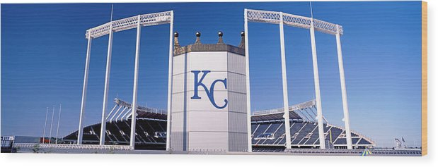 Photography Wood Print featuring the photograph Baseball Stadium, Kauffman Stadium by Panoramic Images