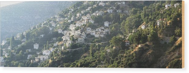 Greece Wood Print featuring the photograph 0116852 - Greece - Pilio by Costas Aggelakis