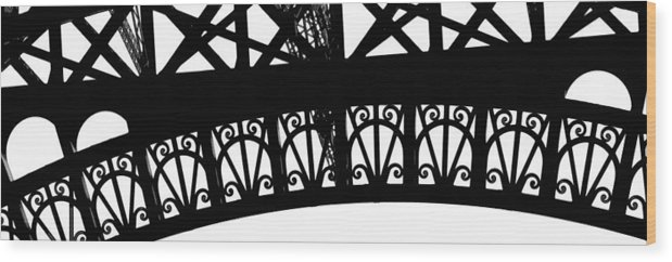 Eiffel Wood Print featuring the photograph Eiffel Tower Girders by Mary Bedy