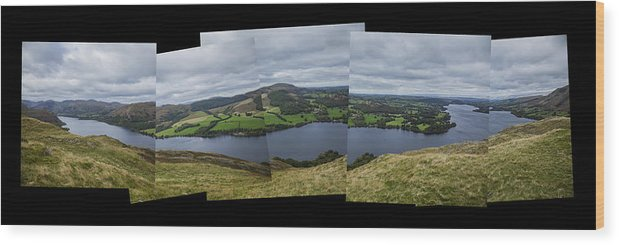 Ullswater Wood Print featuring the photograph Ullswater From Hallin Fell by Graham Moore