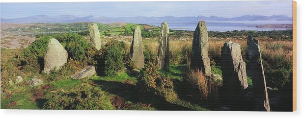 Ardgroom Wood Print featuring the photograph Ardgroom, Co Cork, Ireland Stone Circle by The Irish Image Collection