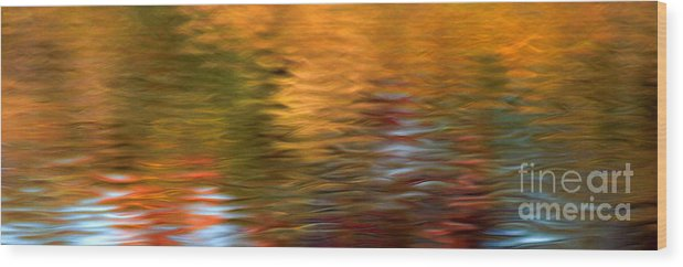 Fall Colors Wood Print featuring the photograph Autumn Ripples by Optical Playground By MP Ray