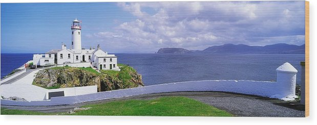Bay Wood Print featuring the photograph Fanad Head Lighthouse, Co Donegal by The Irish Image Collection